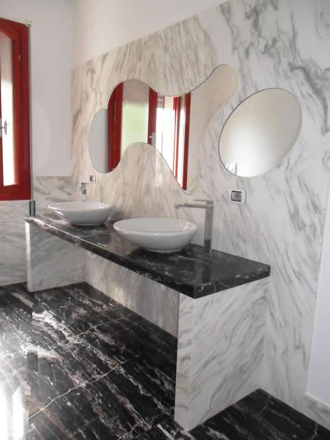 Rivestimento marmo x lavandino duylinh for - Rivestimento bagno in marmo ...